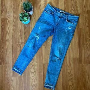 Zara Basic Collection Distressed Jeans